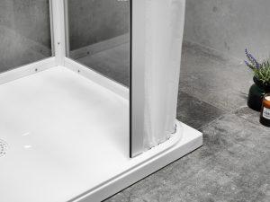 Duschkabin med lågt insteg